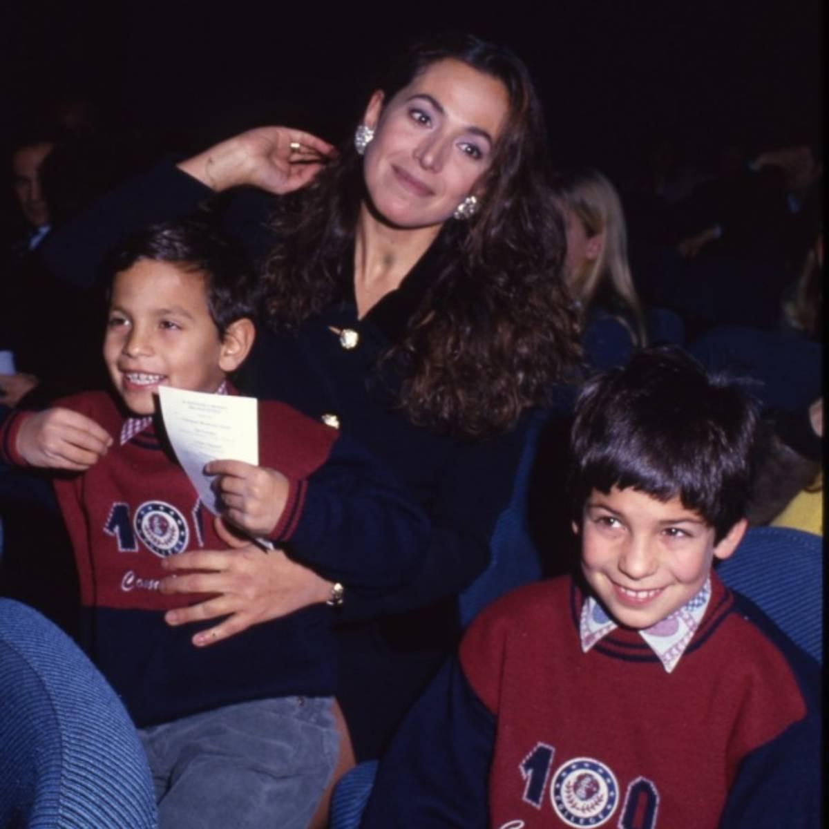 Barbara D'Urso e i suoi 2 figli
