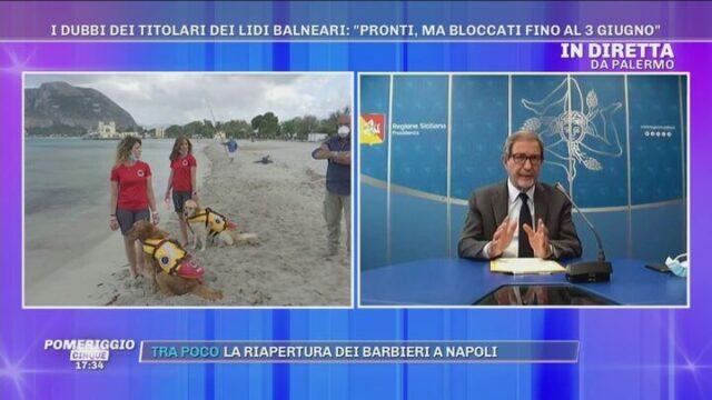 Il distanziamento sulle spiagge per i cani bagnini