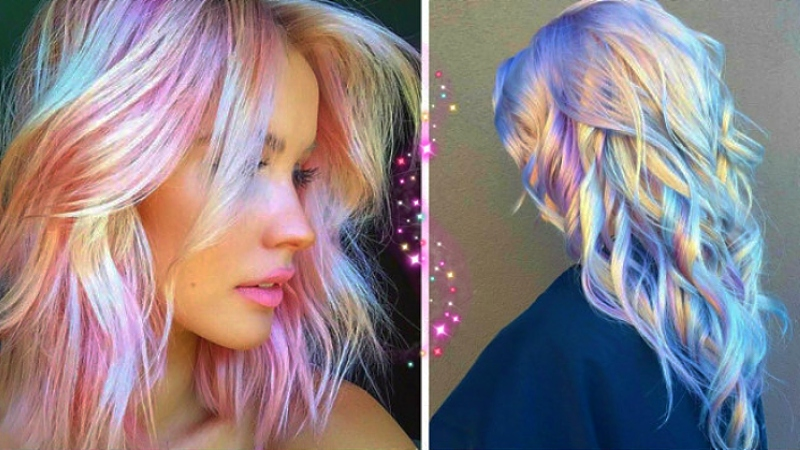 Tendenza 2020 capelli: stile olografico