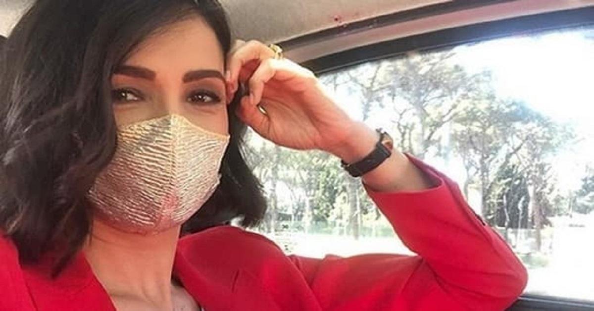 Polemiche sulla mascherina indossata da Caterina Balivo