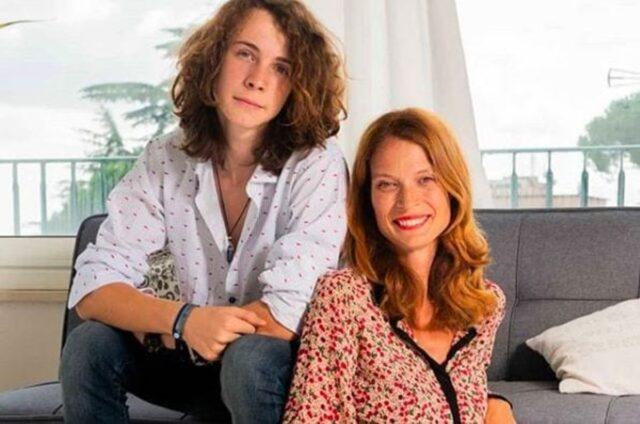 Jane Alexander e il figlio