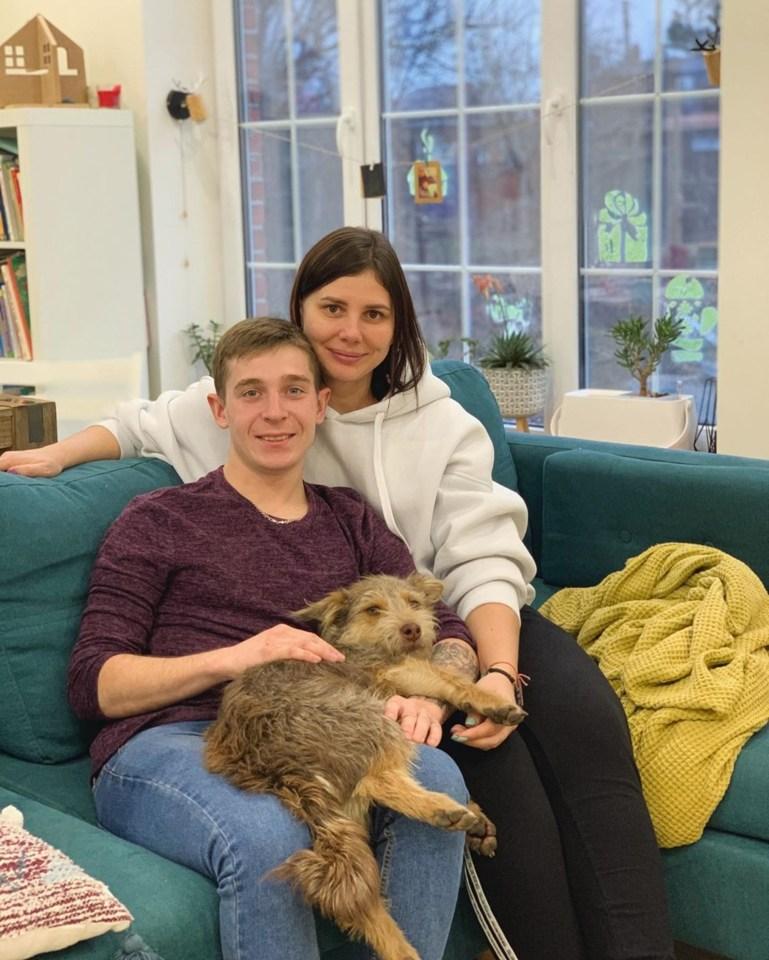 Marina e Vladimir nella loro casa