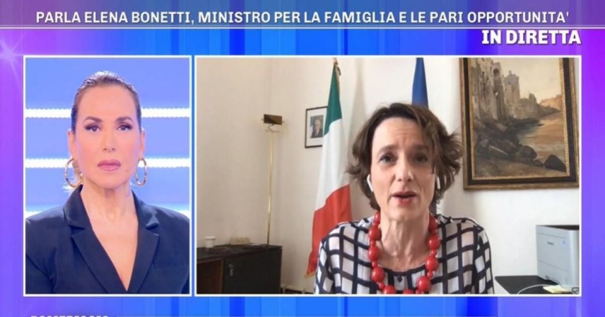 Pomeriggio 5 con ospite Elena Bonetti