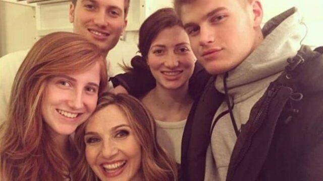 Lorella Cuccarini e i figli