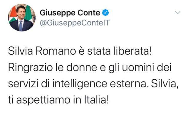 Giuseppe Conte silvia romano