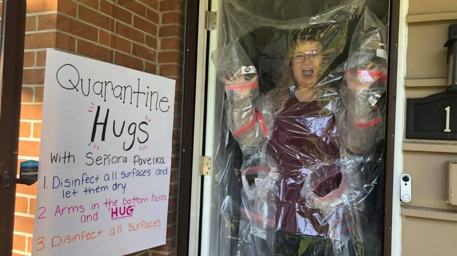 Telo doccia per abbracciare gli studenti