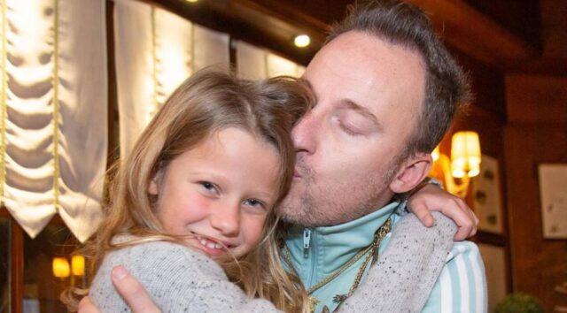 Francesco Facchinetti e la figlia