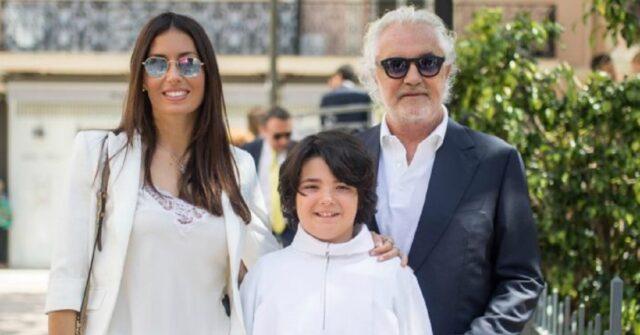 Flavio Briatore, Elisabetta Gregoraci e il figlio