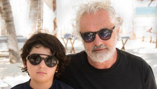 Flavio Briatore e il figlio