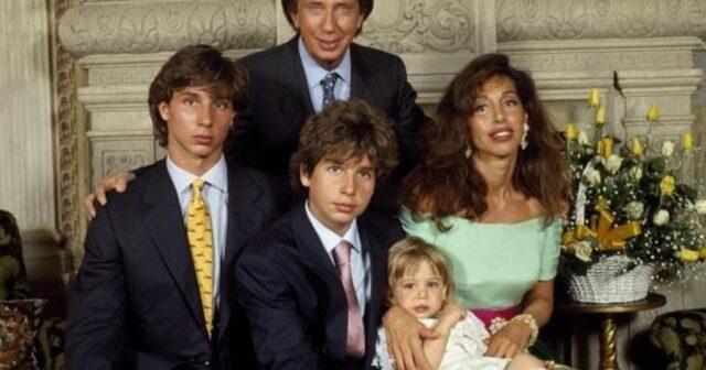 Mike Bongiorno e la sua famiglia