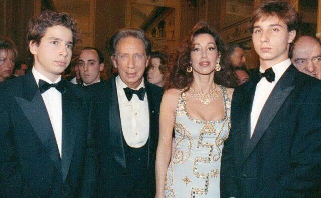 Mike Bongiorno, moglie e due figli