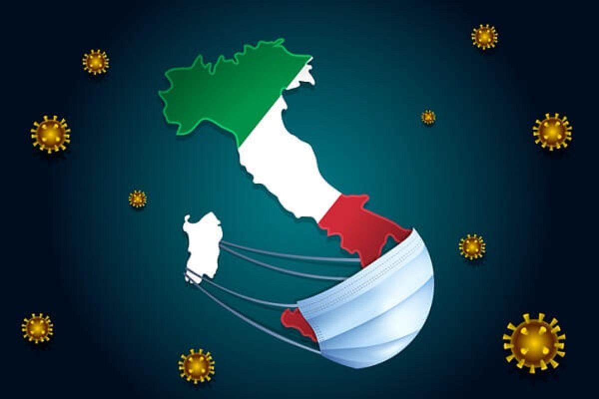 Italia mascherina disegno