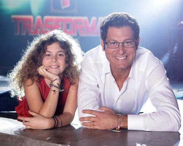 Enrico Papi e la figlia