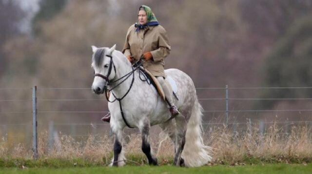 Regina Elisabetta II a cavallo