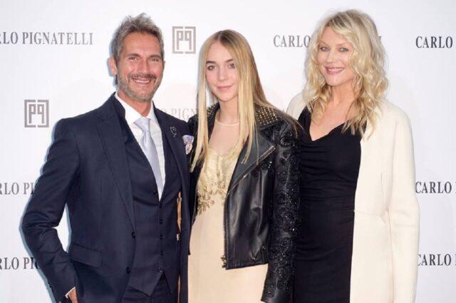 Sasha Sabbioni e i genitori