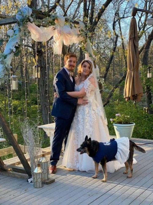 Cani damigelle d'onore al matrimonio