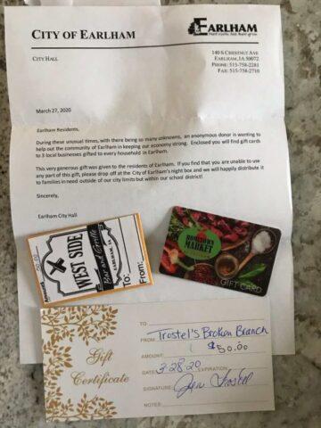 un regalo nella posta