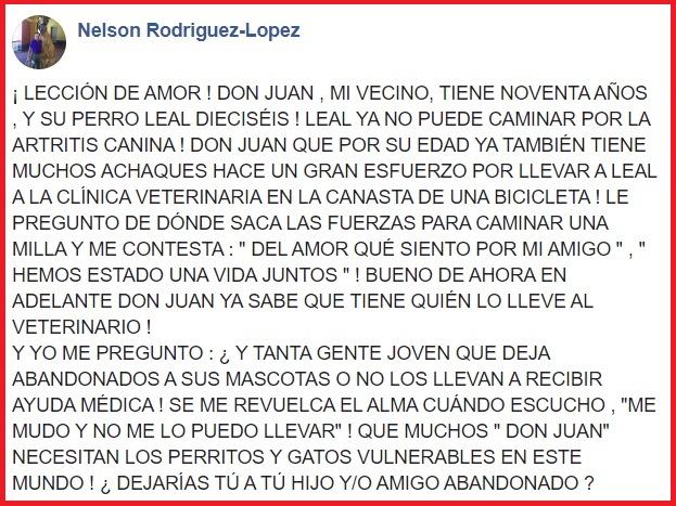 La storia di Don Juan su Facebook