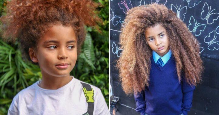 Farouk James, il bambino con i lunghi capelli ricci: si rifiuta di tagliarli