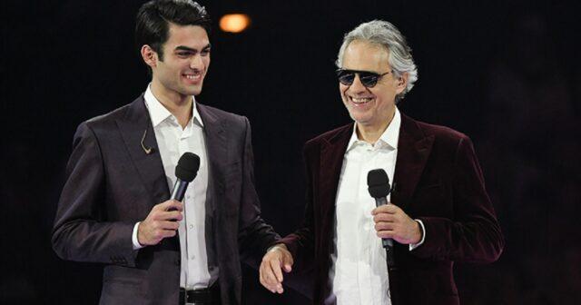 Matteo Bocelli e il padre