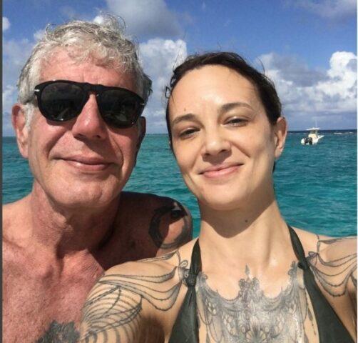 Anthony e Asia Argento al mare