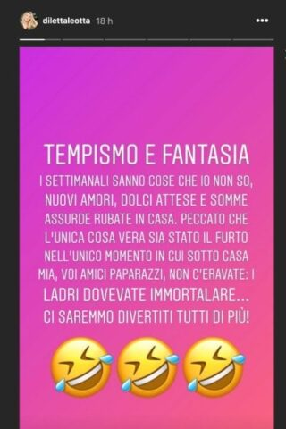 Diletta Leotta furto instagram