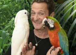 Enzo Salvi e i suoi pappagalli