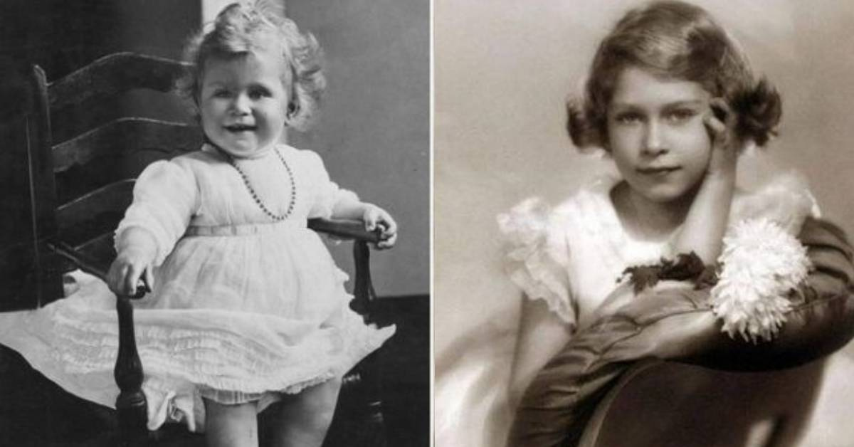 regina Elisabetta da piccola