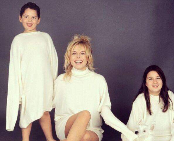 Paola Perego e i figli