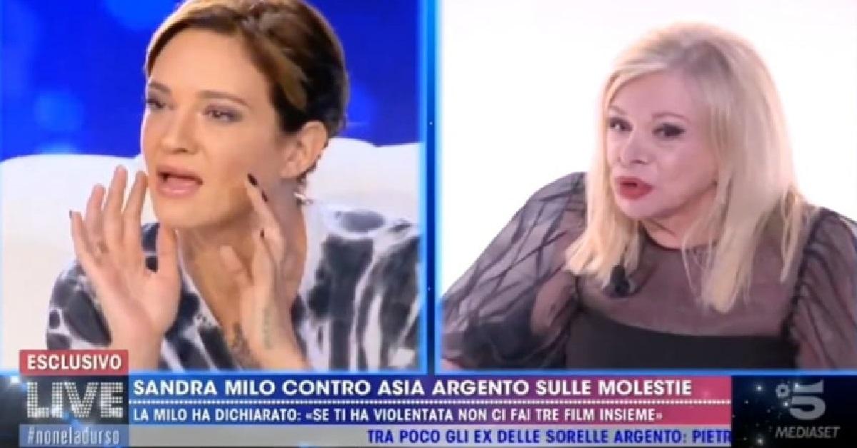"""Live Non è la D'Urso; Asia Argento su Fabrizio Corona: """" Ha problemi mente"""""""