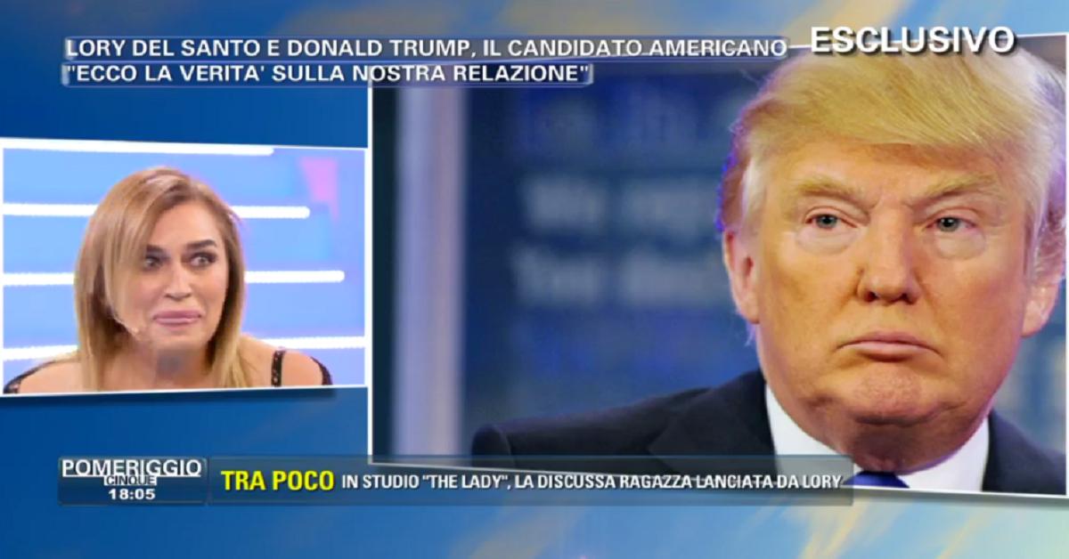 Lory Del Santo e flirt con Donald Trump