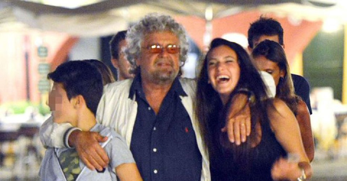 Beppe Grillo e i figli