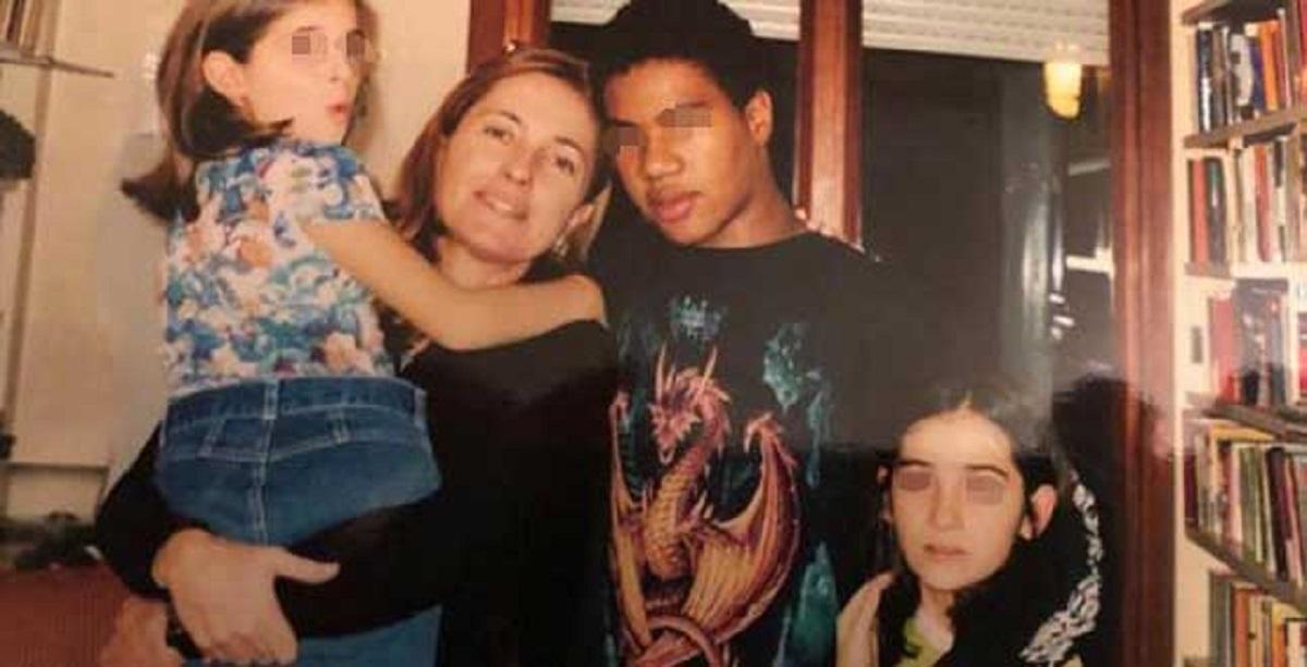 Barbara Palombelli e i tre figli adottati