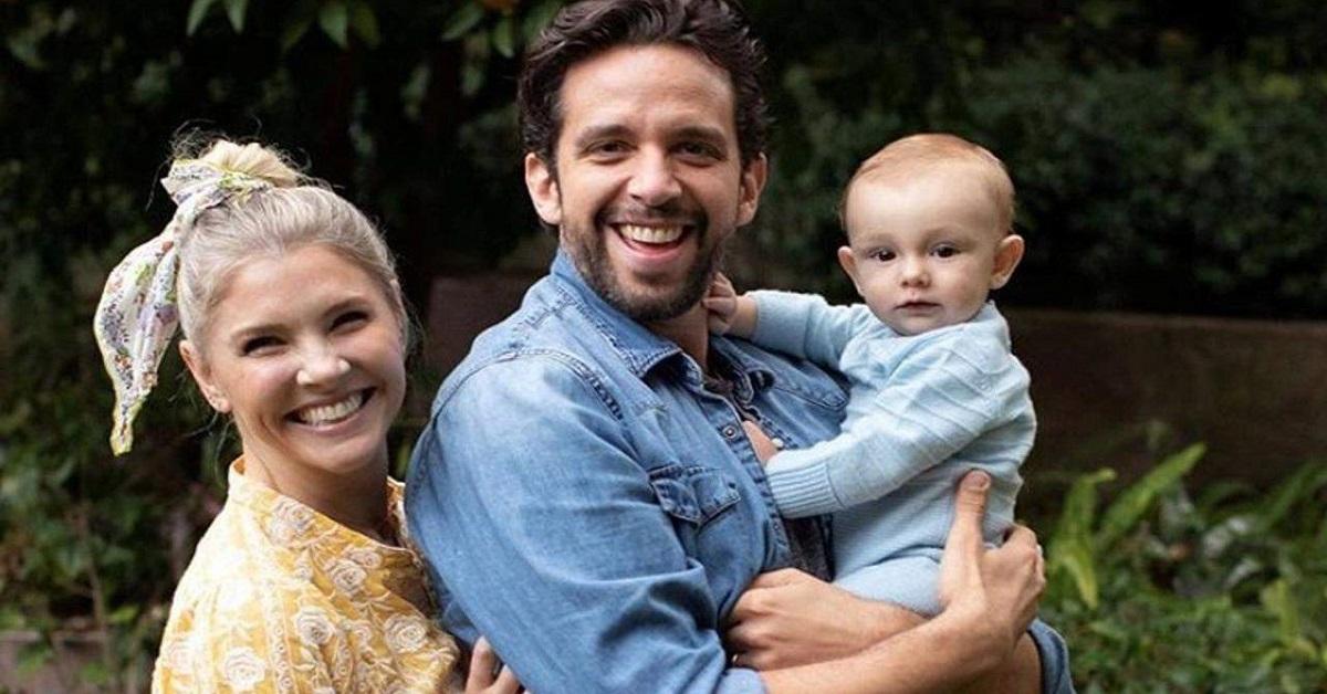 Nick Cordero con moglie e figlio
