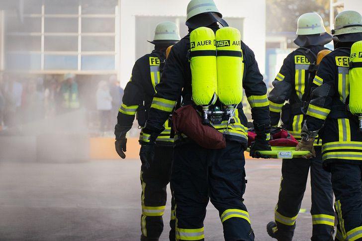 Il salvataggio dei pompieri