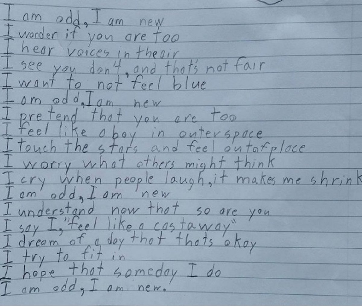Benjamin Giroux la lettera