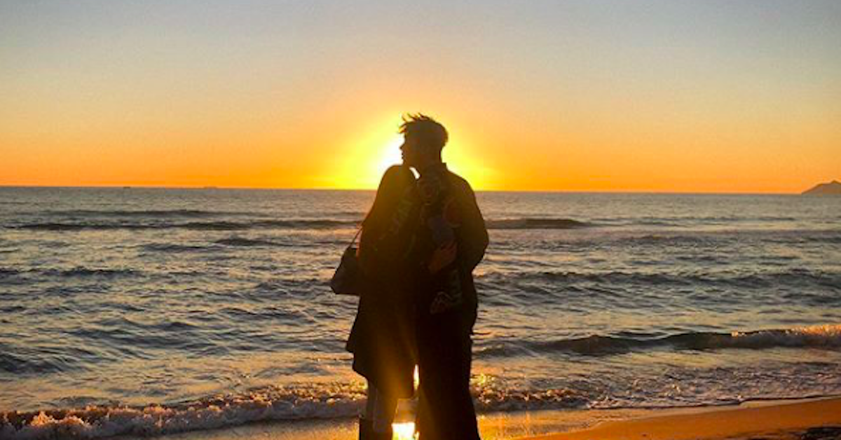 stash e Giulia Belmonte al tramonto