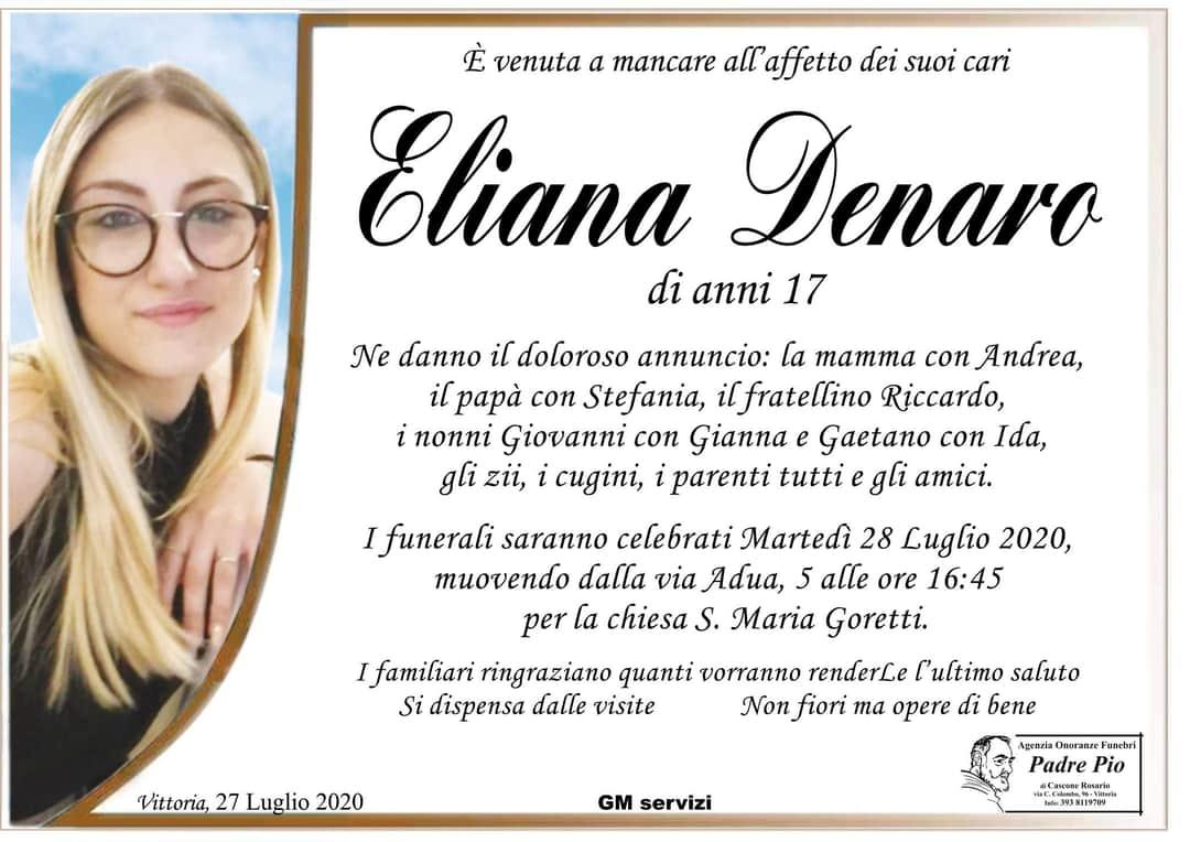 Eliana Denaro ha perso la vita