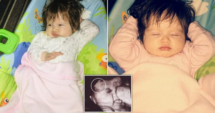 Maya la bimba nata con una folta chioma: tutti sono rimasti stupiti