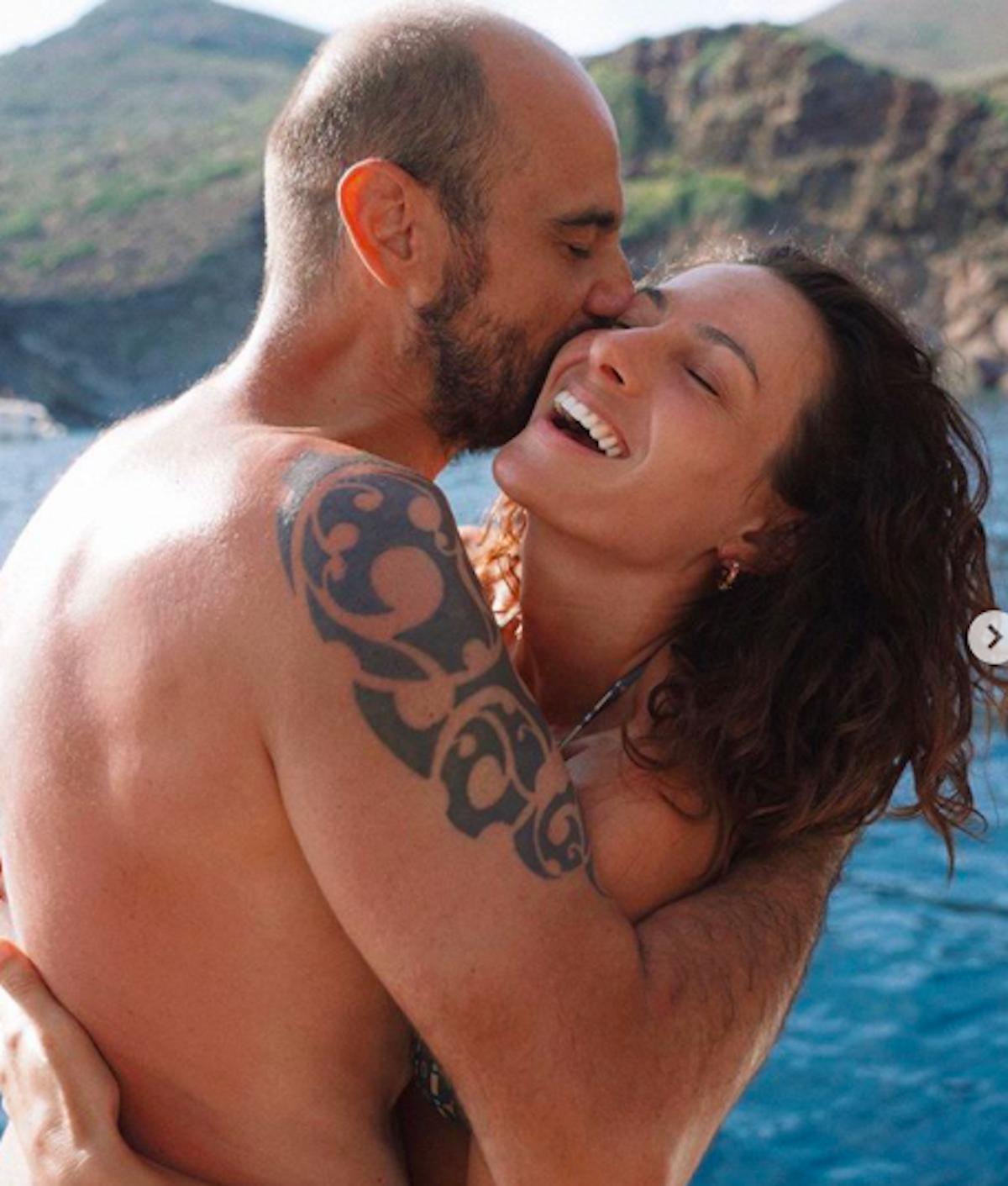 foto di Paola Turani e marito