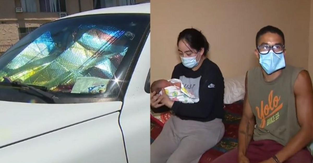 Los Angeles, bambino nasce nel retro di una macchina