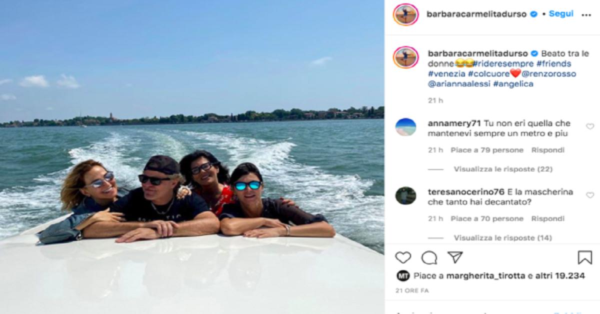 Barbara D'urso a Venezia con Renzo Rosso