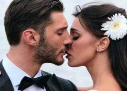Stefano e Belen al matrimonio
