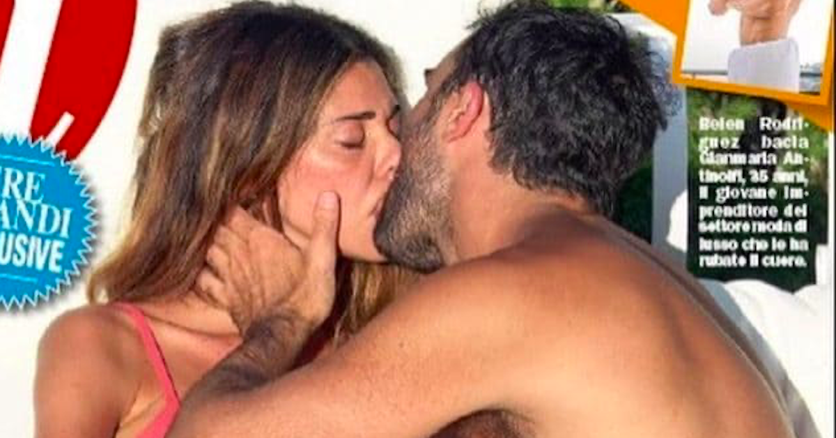 bacio tra Belen e Gianmaria Antinolfi