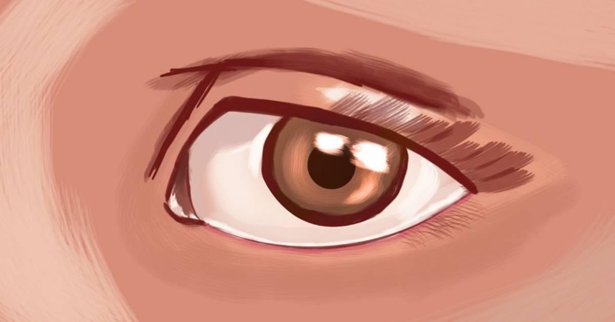 occhio castano scuro