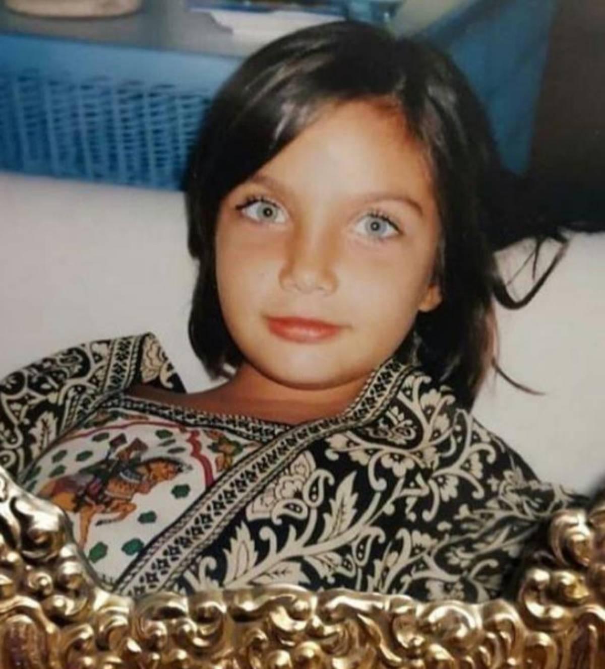 Elettra Lamborgini la foto da bambina