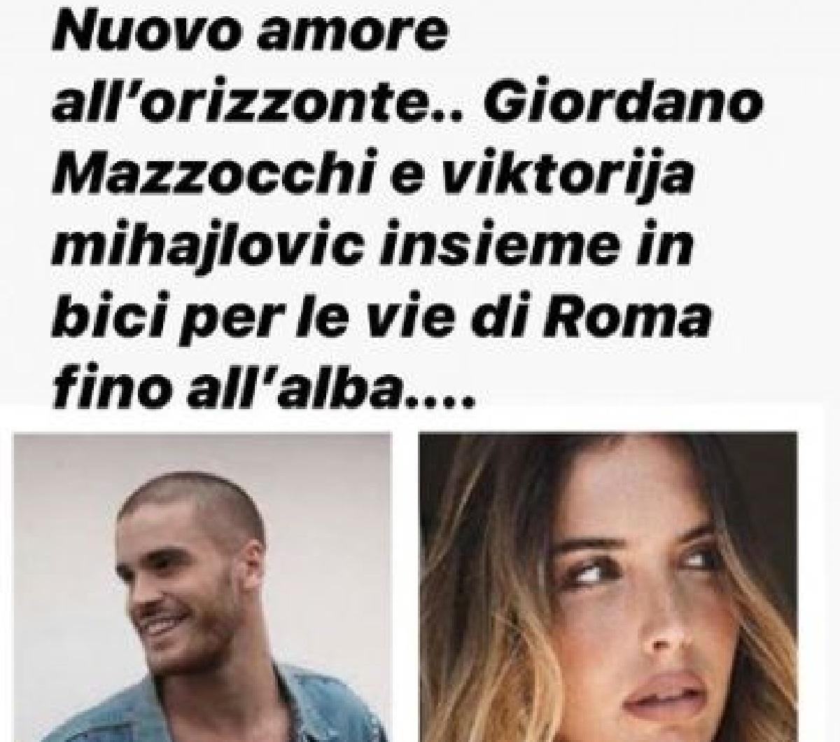 Nuovo amore per Giordano Mazzocchi?