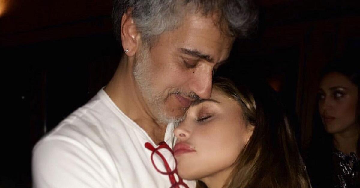 Belen Rodriguez e il padre