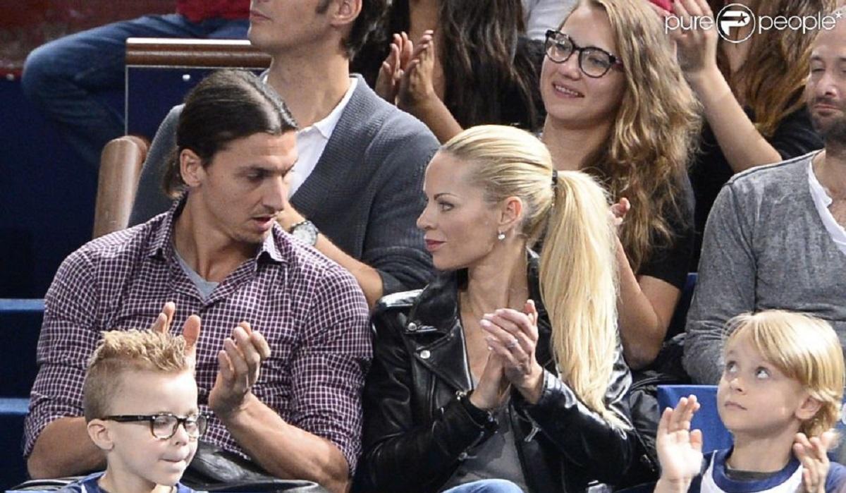 Zlatan Ibrahimovic e la sua famiglia
