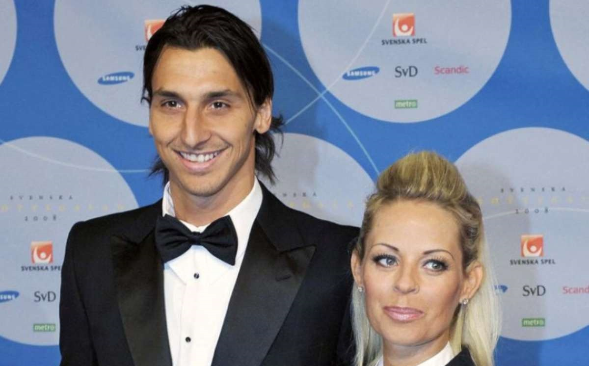 Zlatan Ibrahimovic e la moglie